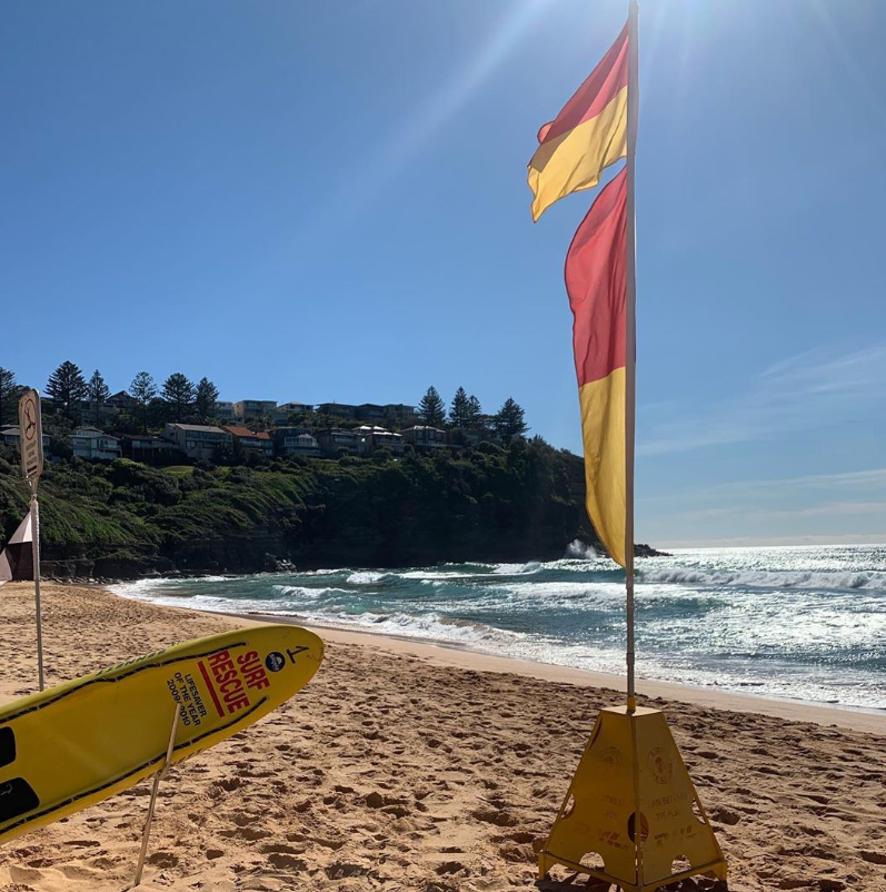 Bilgola SLSC Flags North Headland